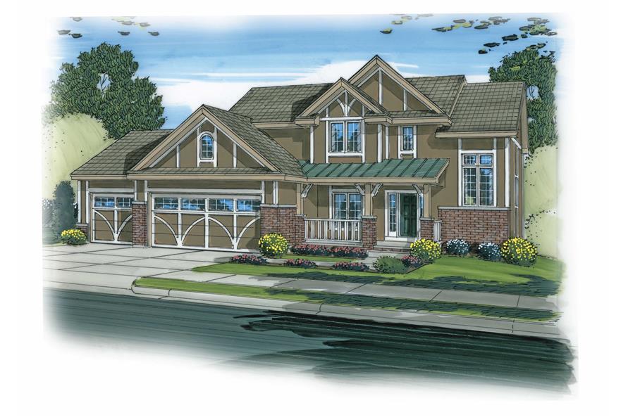 4-Bedroom, 2869 Sq Ft Craftsman House Plan - 100-1170 - Front Exterior