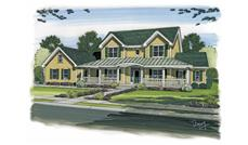 This is a beautiful rendering of these Country Houseplans.