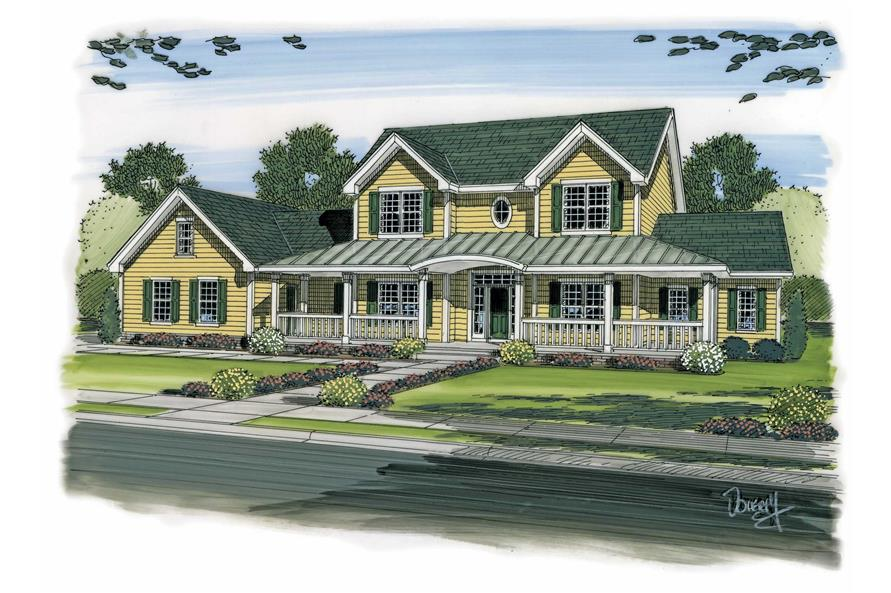 4-Bedroom, 3142 Sq Ft Colonial House Plan - 100-1172 - Front Exterior