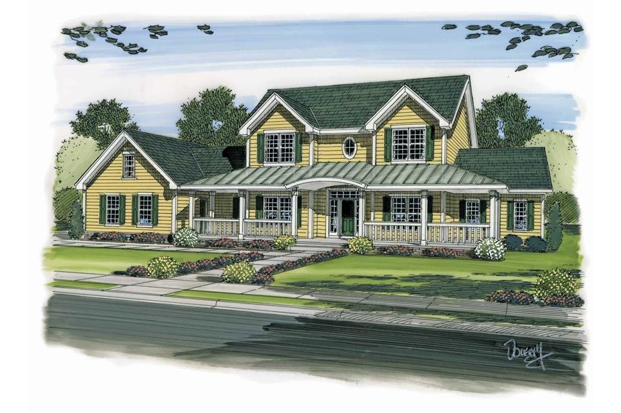 Front Door of this 4-Bedroom,3142 Sq Ft Plan -100-1172