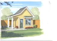 This is the front elevation of these Shed Plans.