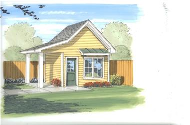0-Bedroom, 122 Sq Ft Specialty Home Plan - 100-1176 - Main Exterior