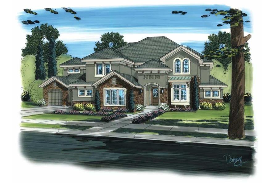 Front View of this 5-Bedroom,3749 Sq Ft Plan -100-1178