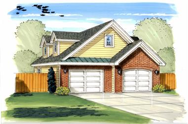 0-Bedroom, 1508 Sq Ft Garage House Plan - 100-1181 - Front Exterior