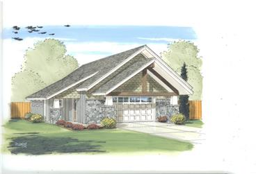 0-Bedroom, 591 Sq Ft Garage House Plan - 100-1182 - Front Exterior