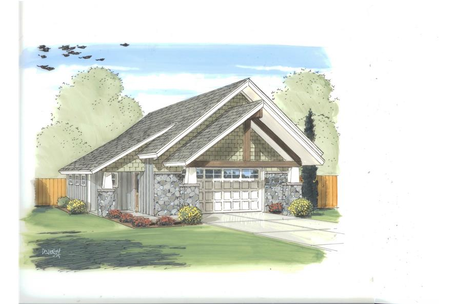This set of Garage Plans has a very impressive elevation. Here it is.
