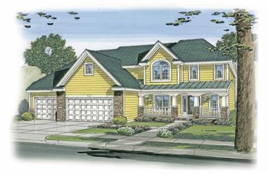 4-Bedroom, 2787 Sq Ft Country Home Plan - 100-1183 - Main Exterior