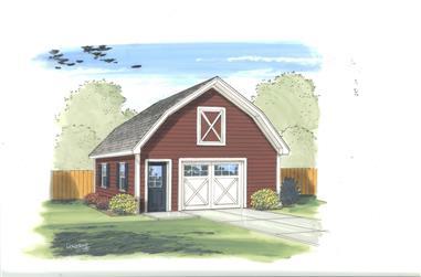 0-Bedroom, 669 Sq Ft Garage Home Plan - 100-1184 - Main Exterior