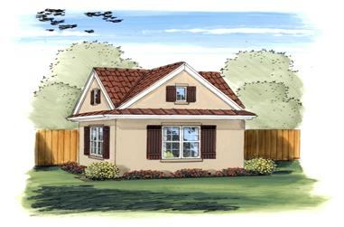 This is an artist's rendering of these Storage Shed Plans.