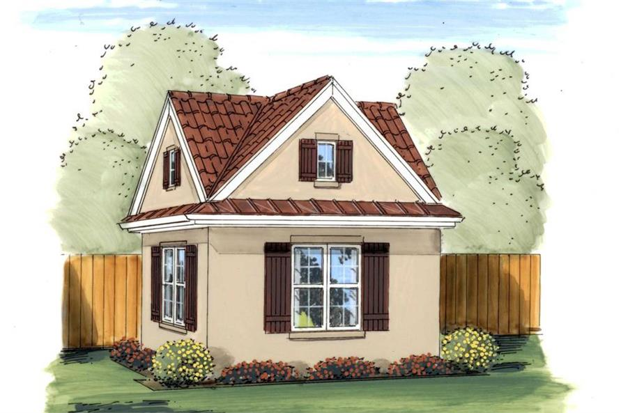 Artist's rendering of Specialty home plan (ThePlanCollection: House Plan #100-1187)