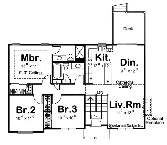 Floor Plan First Story Of Country Plan