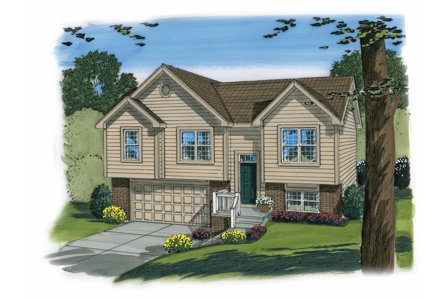 3-Bedroom, 1096 Sq Ft Country Home Plan - 100-1192 - Main Exterior