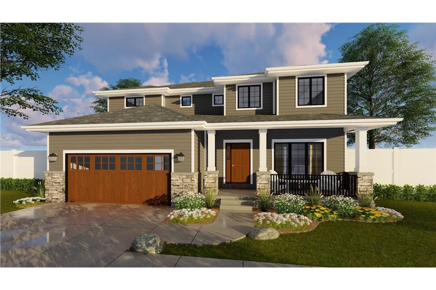 Landscaping of this 4-Bedroom,2554 Sq Ft Plan -2554