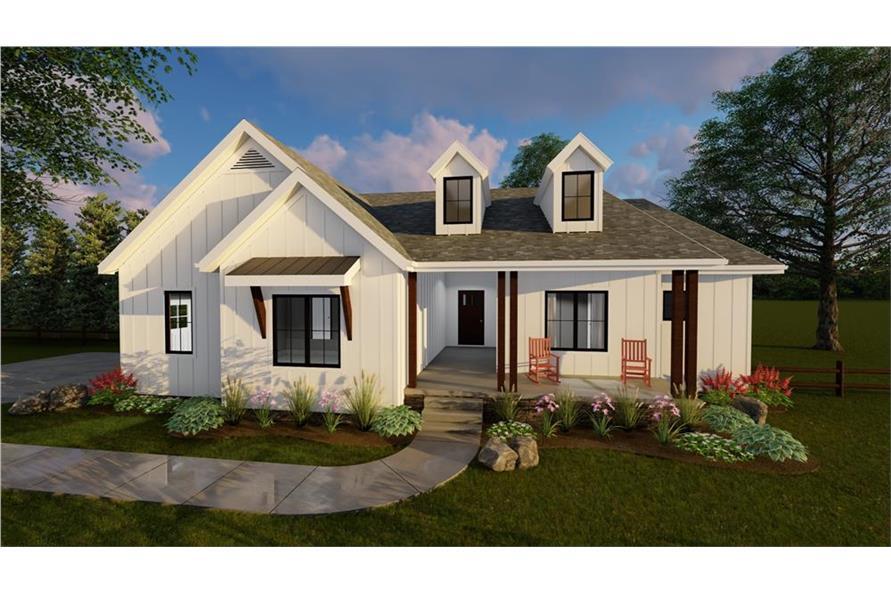 100-1195: Home Plan Rendering