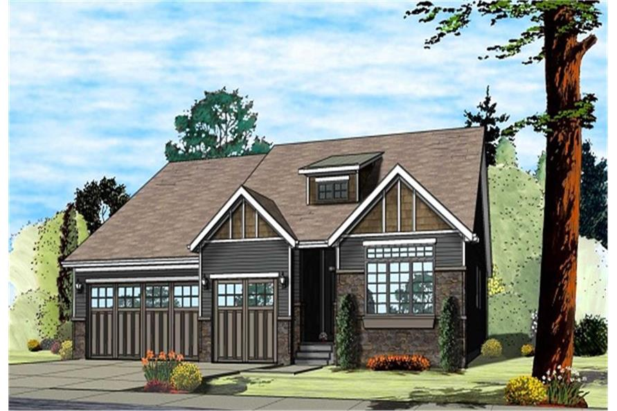 100-1196: Home Plan Rendering