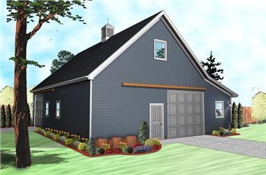 0-Bedroom, 2729 Sq Ft Garage House Plan - 100-1197 - Front Exterior