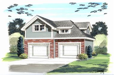 0-Bedroom, 0 Sq Ft Garage House Plan - 100-1200 - Front Exterior