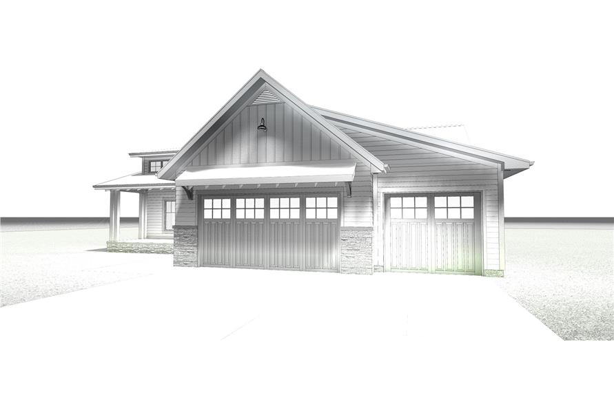 Home Plan Rendering of this 3-Bedroom,1701 Sq Ft Plan -100-1203