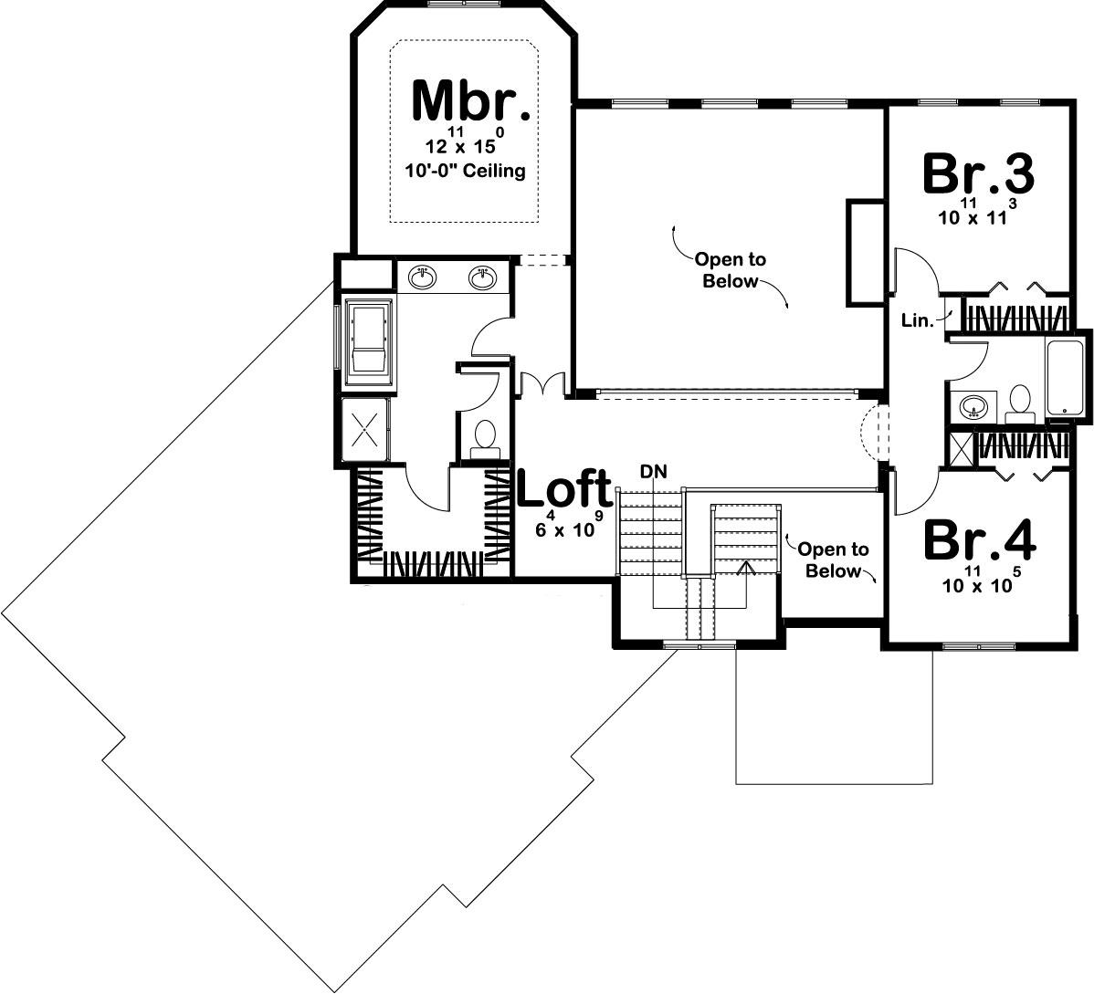Mediterranean house plan 100 1204 4 bedrm 2502 sq ft for 100 sq ft house plans