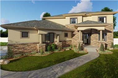 4-Bedroom, 2502 Sq Ft Mediterranean House Plan - 100-1204 - Front Exterior