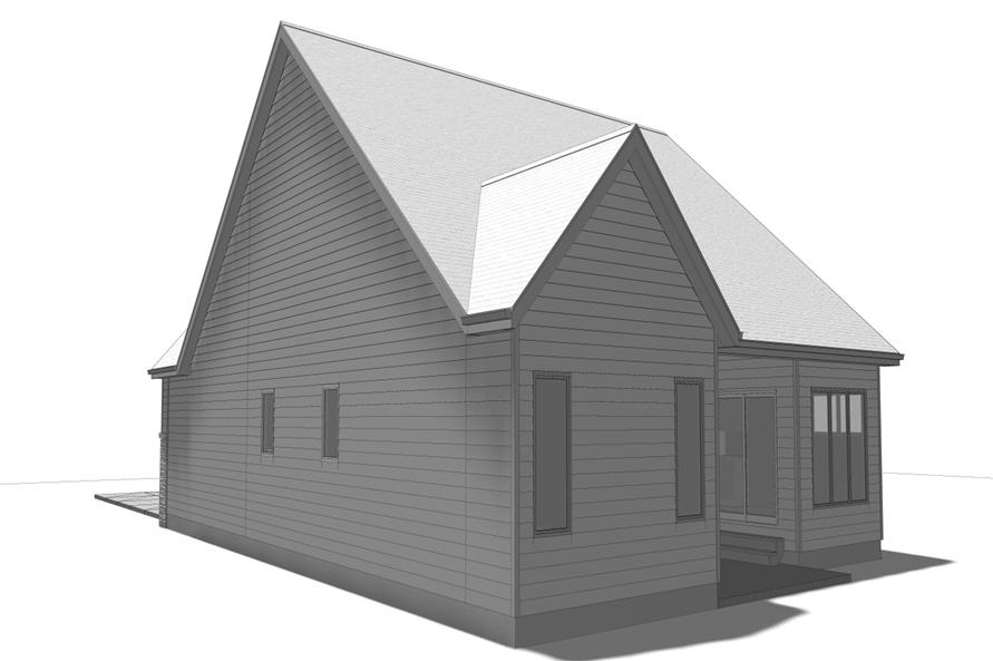 100-1205: Home Plan Right Elevation