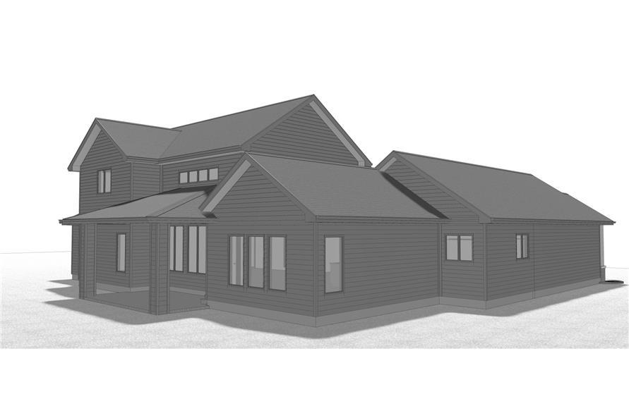 100-1209: Home Plan Left Elevation