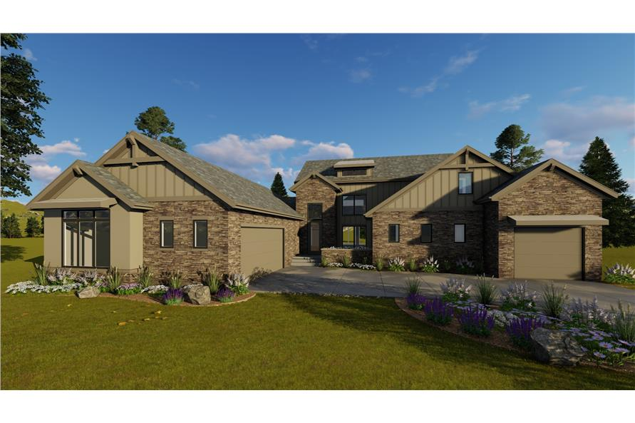 4-Bedroom, 2969 Sq Ft Country Home Plan - 100-1209 - Main Exterior