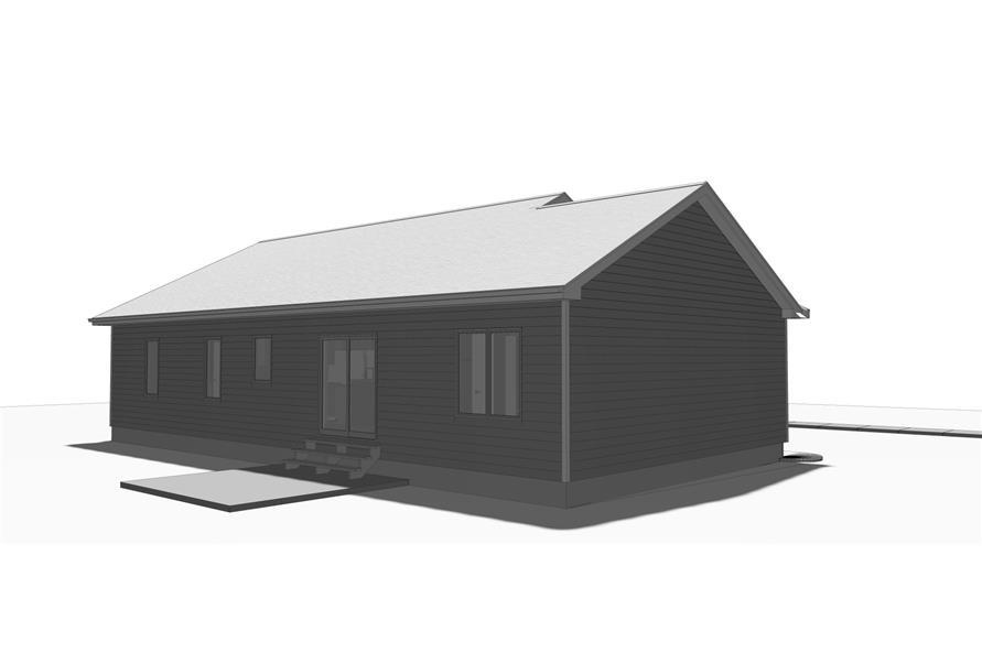 100-1210: Home Plan Rendering-Patio