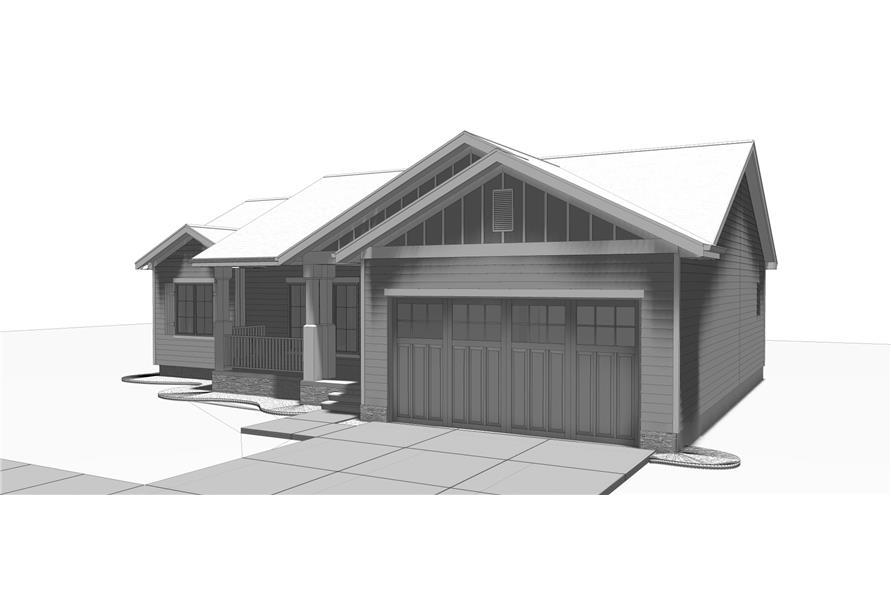 100-1210: Home Plan Rendering