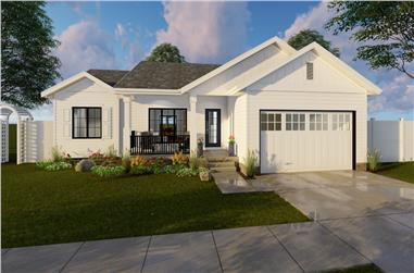3-Bedroom, 1185 Sq Ft Modern Farmhouse House Plan - 100-1210 - Front Exterior