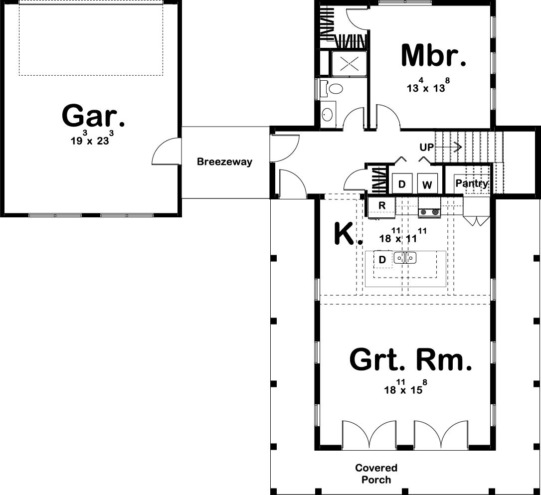 Farmhouse Home 2 Bedrm 1757 Sq Ft House Plan 100 1211