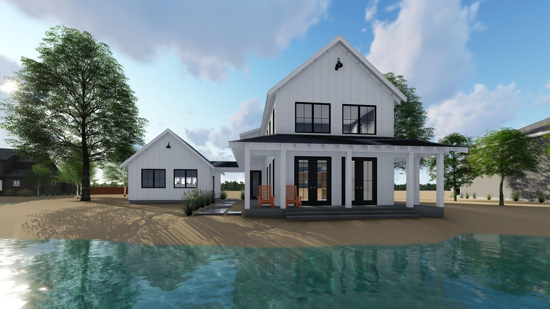 Farmhouse House Plan #100-1211: 2 Bedrm, 1757 Sq Ft Home