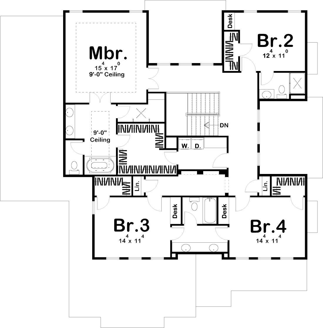 4 Bedrm 3156 Sq Ft Luxury House Plan 100 1214