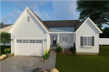 3-Bedroom, 1877 Sq Ft Ranch House - Plan #100-1219 - Front Exterior