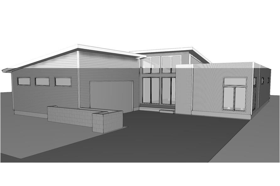 Home Plan 3D Image of this 2-Bedroom,1890 Sq Ft Plan -1890
