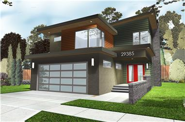 3-Bedroom, 2001 Sq Ft Contemporary Home Plan - 100-1226 - Main Exterior