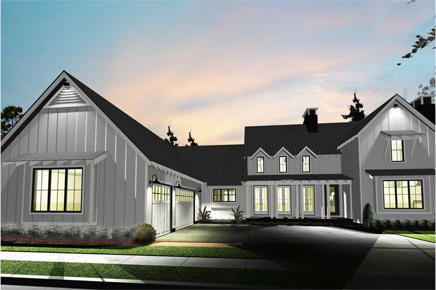 Farmhouse Home Plan - 4 Bedrms, 4 Baths - 2768 Sq Ft ...