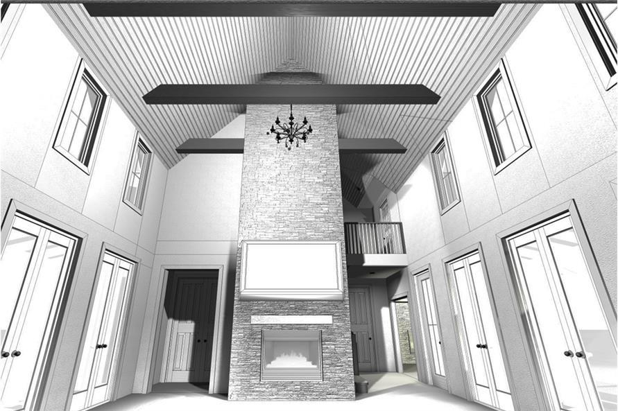 Farmhouse home plan 4 bedrms 4 baths 2768 sq ft for 100 sq ft room