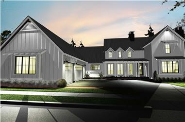 4-Bedroom, 2768 Sq Ft Farmhouse Home Plan - 100-1227 - Main Exterior