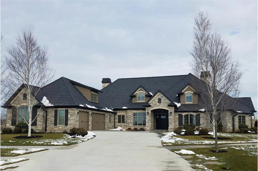 Home Exterior Photograph of this 3-Bedroom,4853 Sq Ft Plan -4853