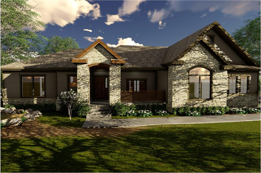 2-Bedroom, 2242 Sq Ft Craftsman Home Plan - 100-1234 - Main Exterior