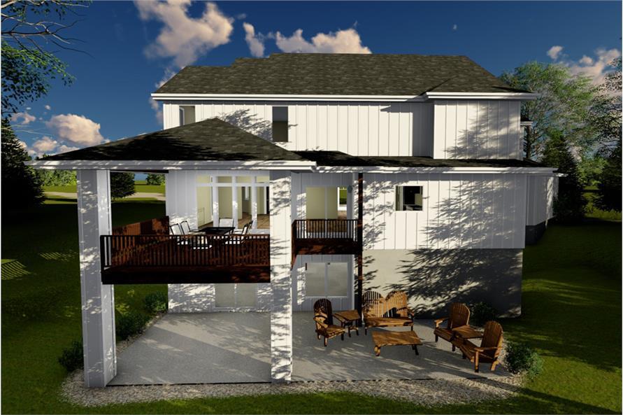 Home Plan Rendering of this 4-Bedroom,3120 Sq Ft Plan -100-1235