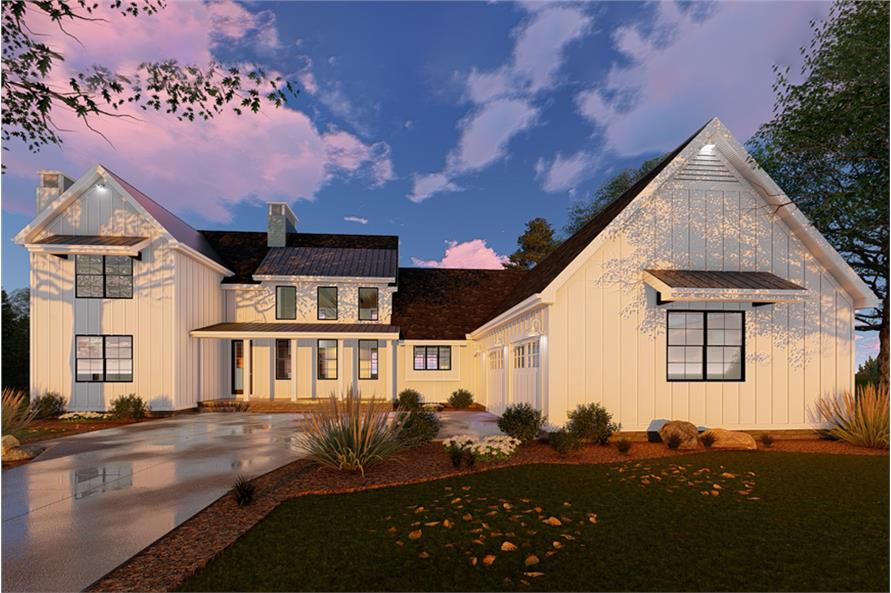 Home Plan Rendering of this 5-Bedroom,3043 Sq Ft Plan -3043