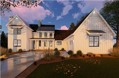 5-Bedroom, 3043 Sq Ft Farmhouse House Plan - 100-1236 - Front Exterior