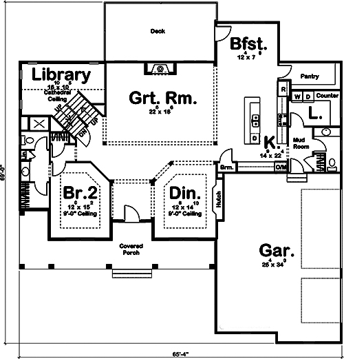 Farmhouse Floor Plan 5 Bedrms 5 Baths 4332 Sq Ft