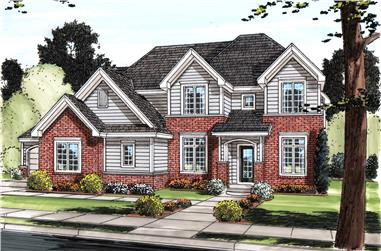 5-Bedroom, 3493 Sq Ft Traditional House Plan - 100-1245 - Front Exterior