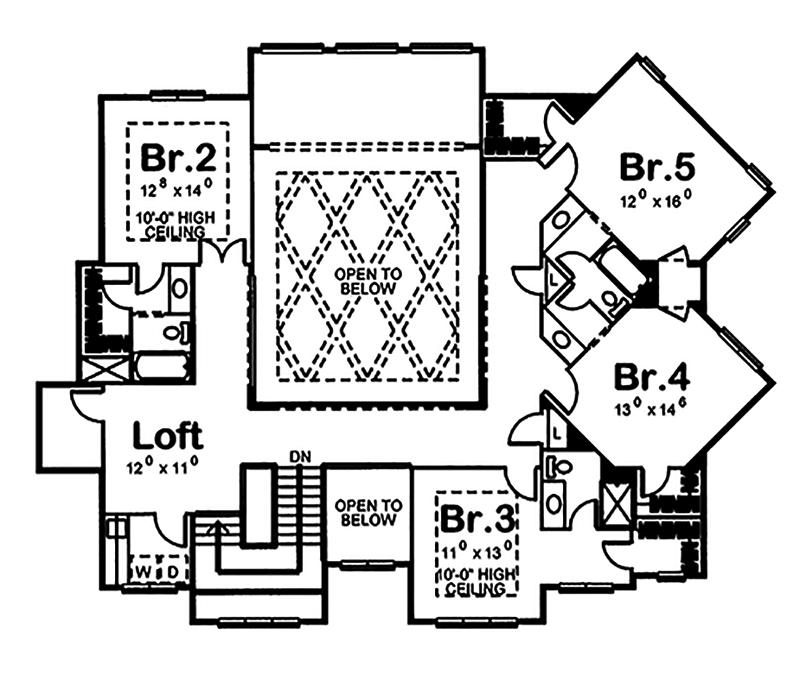 Craftsman house plan 5 bedrms 4 5 baths 5010 sq ft for 100 floors floor 35