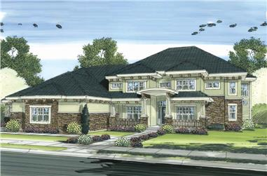 5-Bedroom, 5010 Sq Ft Craftsman Home Plan - 100-1247 - Main Exterior