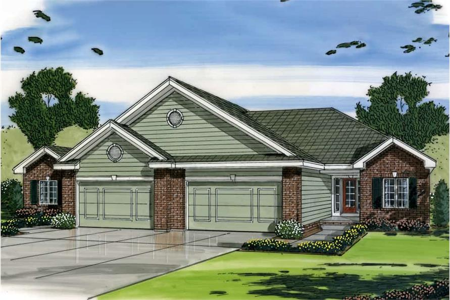 Front View of this 2-Bedroom,1189 Sq Ft Plan -1189