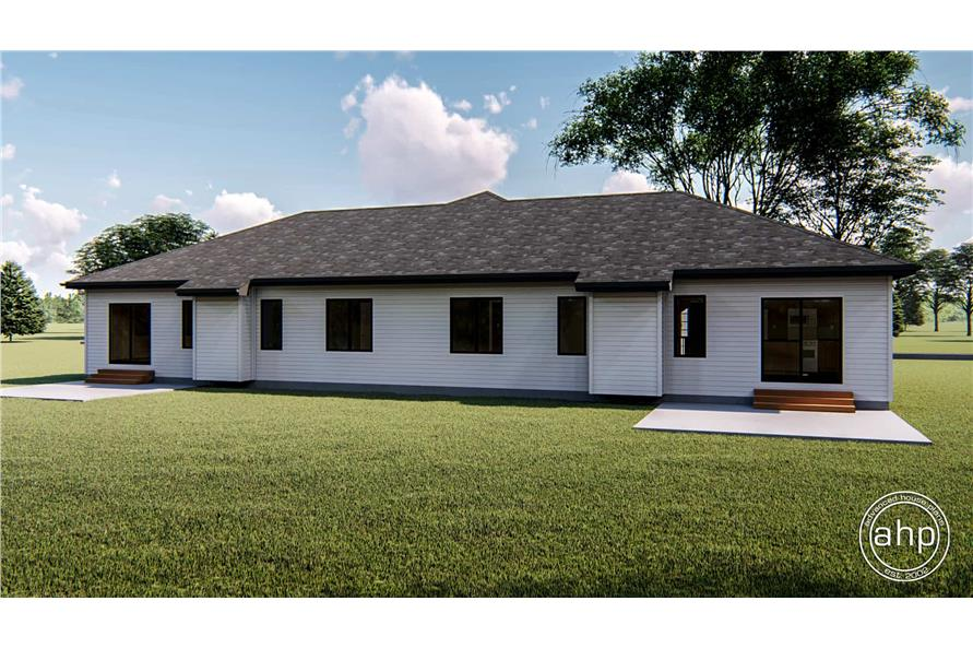 Rear View of this 2-Bedroom,1189 Sq Ft Plan -1189